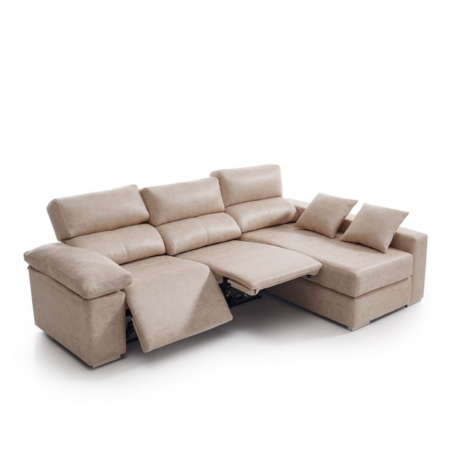 Sof chaise longue relax robert exclusivo con env o gratis for Sofas de piel con chaise longue