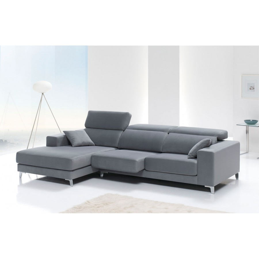 Chaise longue modernos best chaise longue en negro y for Sillon divan moderno