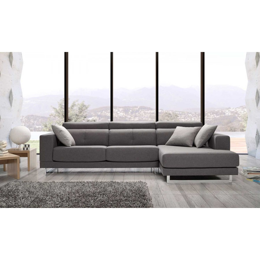 Sofas chaise longue modernos amazing sof de piel con for Chaise longue relax