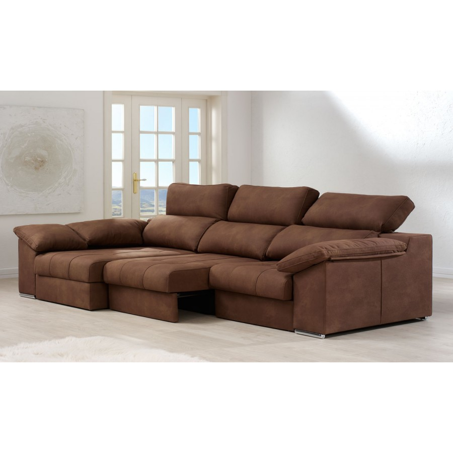 Sof chaise longue convertible en cama toledo con env o gratis for Oferta sofa cama chaise longue