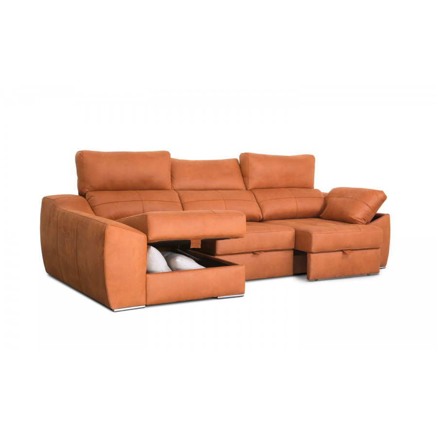 Sof chaise longue arga convertible en cama con env o gratis for Oferta sofa cama chaise longue