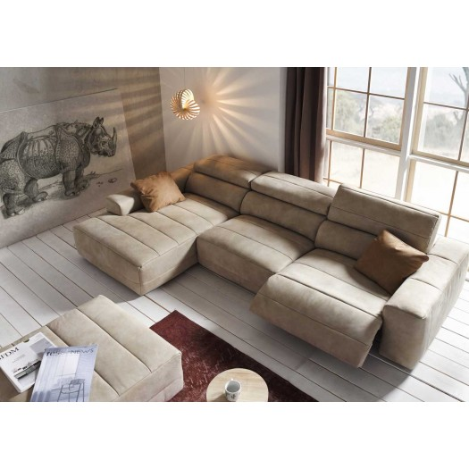 1 elegant sofas chaise longue en tela sectional sofas for Sofa con chaise longue