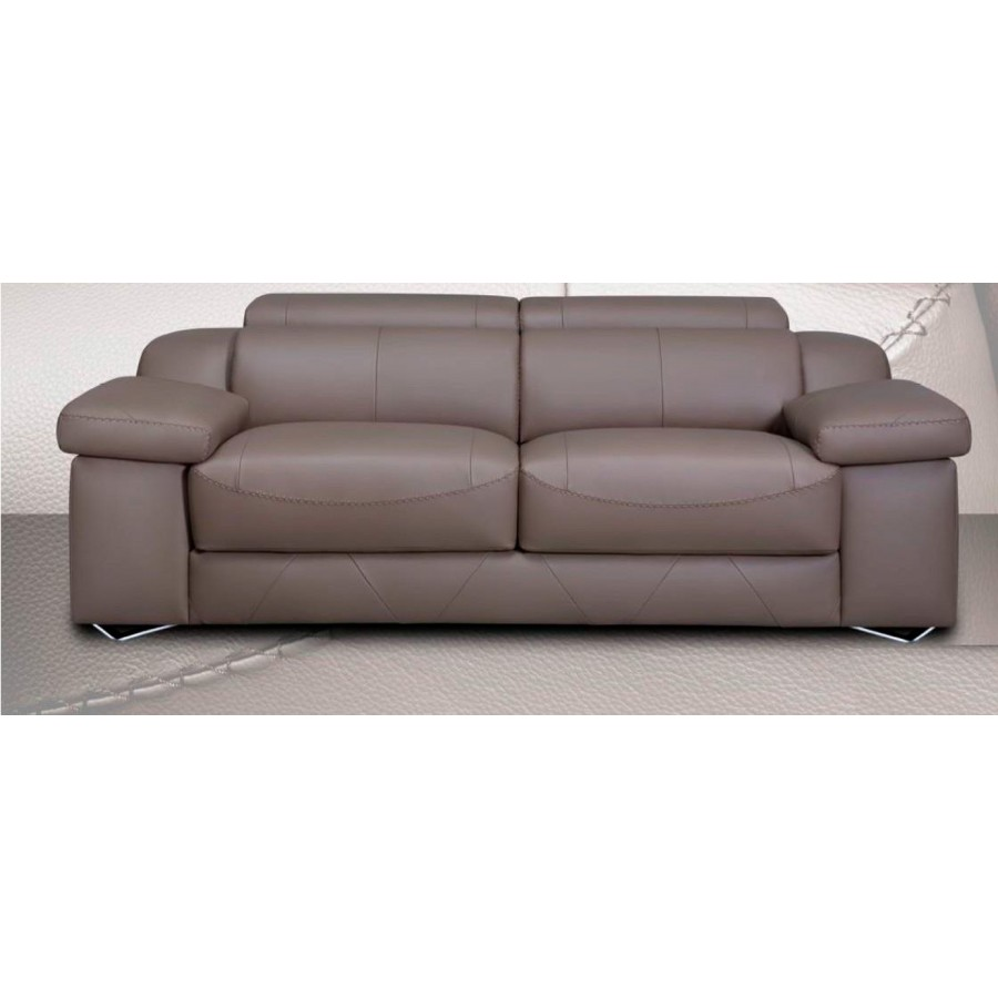 Sof 2 y 3 plazas o chaiselongue de piel romea alto dise o for Sofas de 2 plazas pequenos
