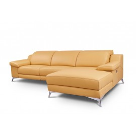 Cleo Chaise longue Piel relax o fijo