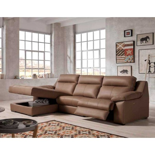 Chaise longue relax verona de piel gran dise o y env o gratis for Sofa piel chaise longue