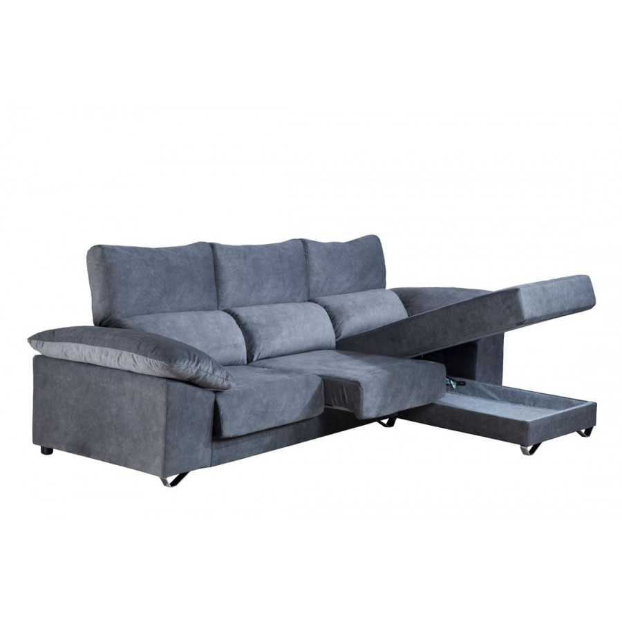 Sof chaise longue madrid deslizante gran oferta con env o for Oferta sofa cama chaise longue