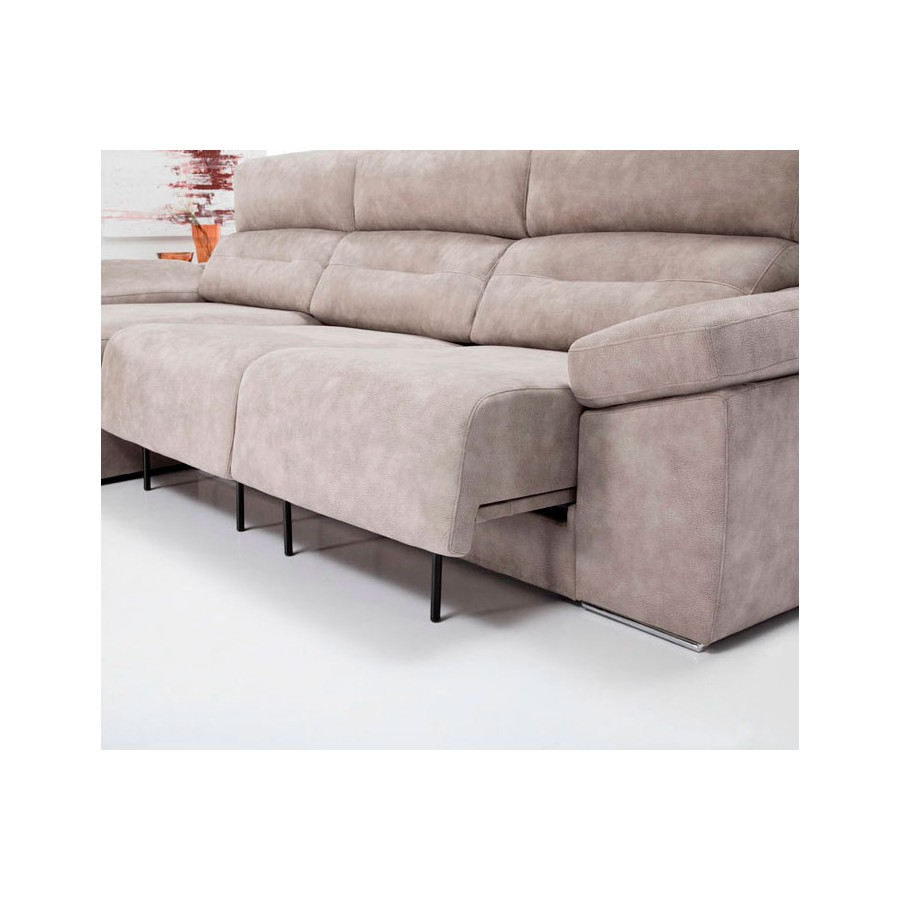 Sof 2 y 3 plazas cama yoko flexos y pouf exclusivo con for Sofas de piel economicos